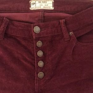 Free People Skinny Corduroy